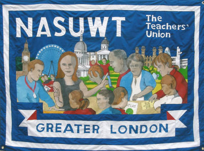 nasuwt union banners made by ed hall in 2013